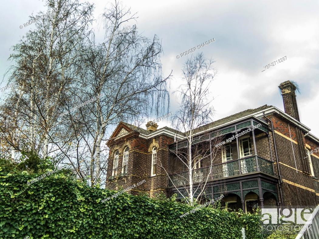 Stock Photo: A Victorian house in Melbourne, Victoria, Australia. Haunted Or not ...