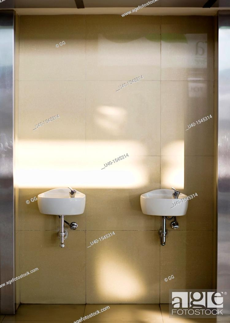 Stock Photo: Water fountains.
