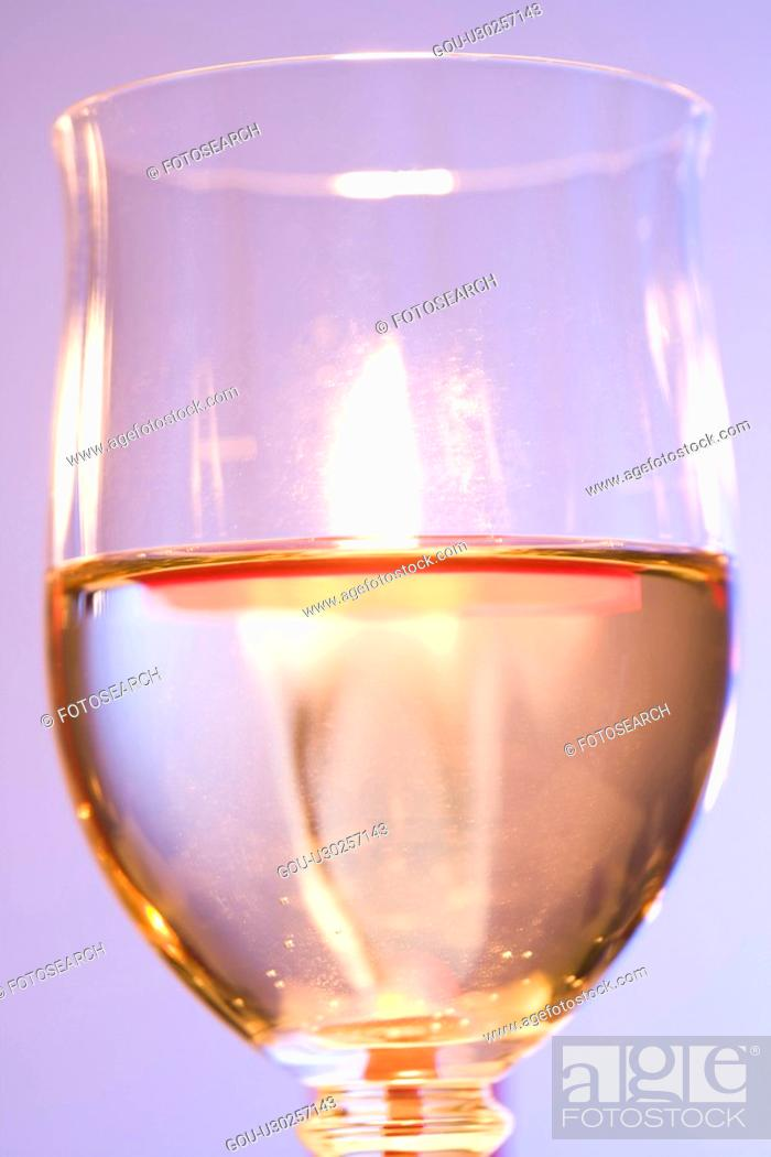 Stock Photo: White wine.