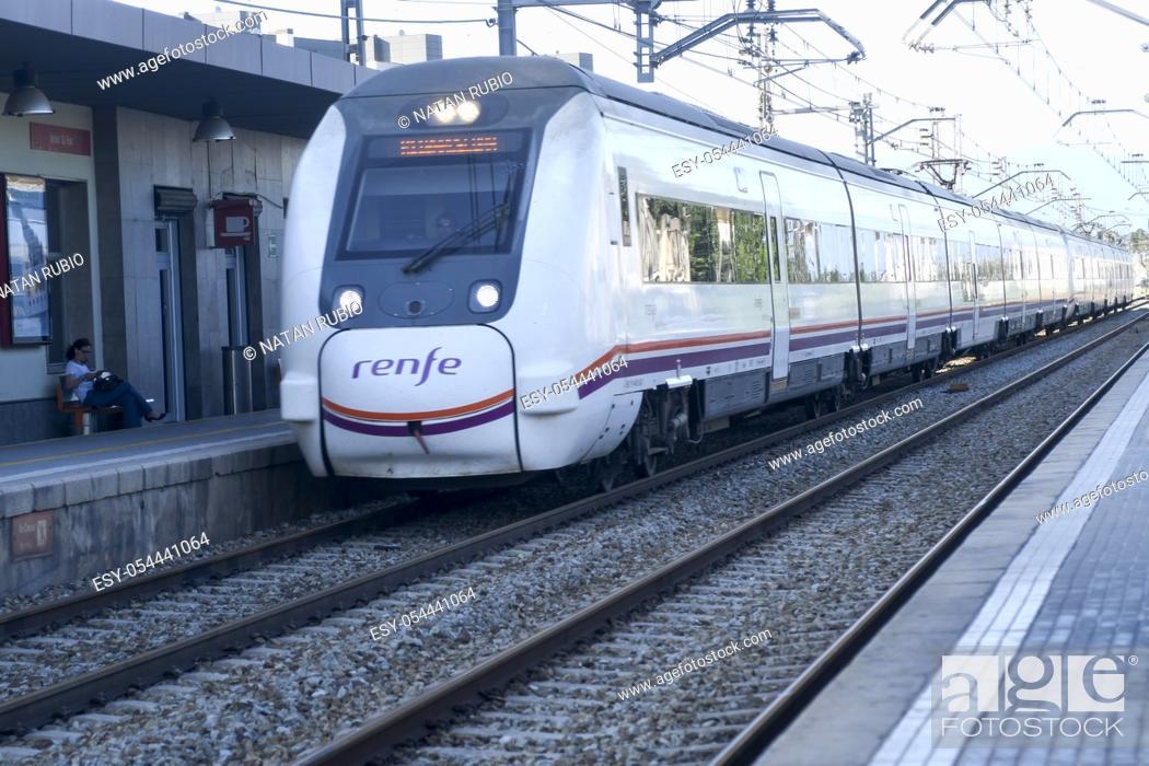 Stock Photo: Subway train. Mollet del Valles. Barcelona, Spain.
