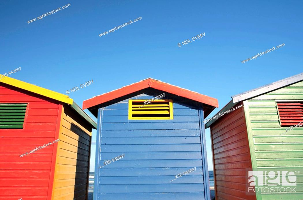 Stock Photo: Beach Huts.