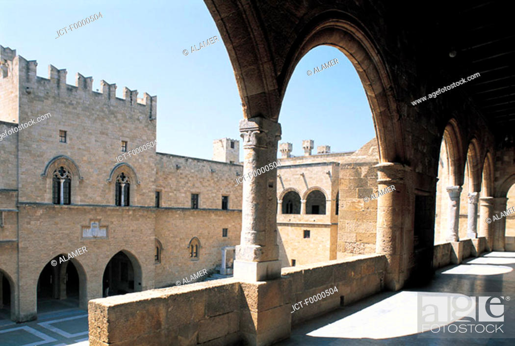 Stock Photo: Rhodes, Palace of the Grand Masters.