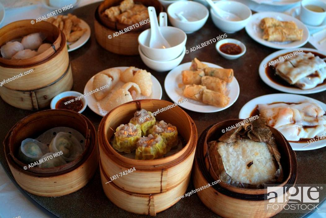 Stock Photo: Chinese food sample in Vancouver.