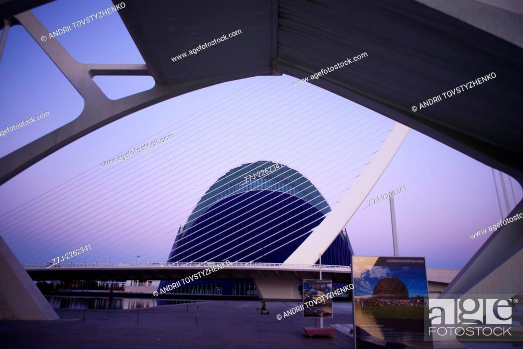 Stock Photo: City of Arts and Sciences, VALENCIA, SPAIN.