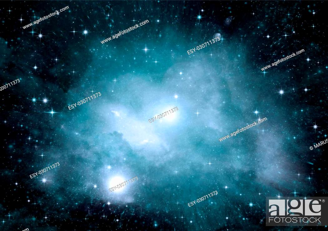 Imagen: Stars, dust and gas nebula in a far galaxy.