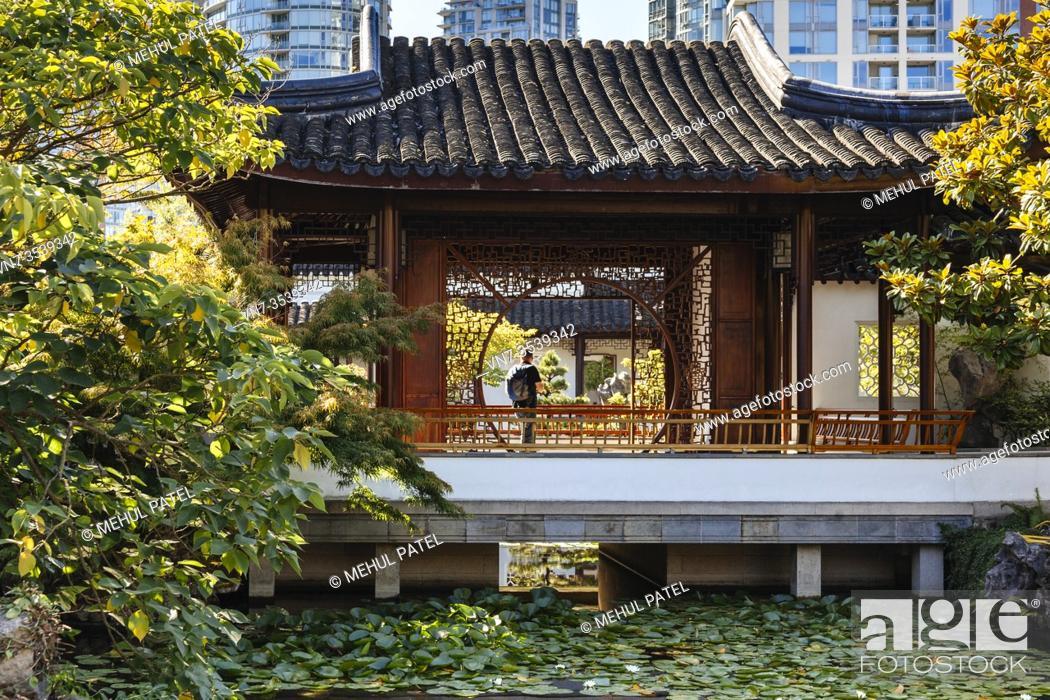 Stock Photo: Dr Sun Yat-Sen Classical Chinese Garden - Vancouver, Canada.