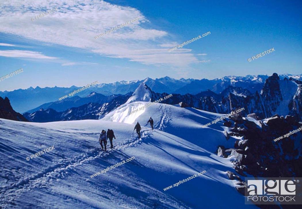 Stock Photo: Aiguille d'Argentiere France.