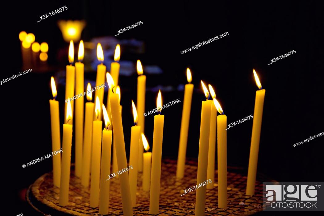 Stock Photo: Church candles.
