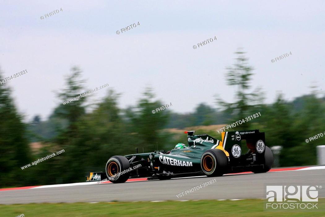 Stock Photo: Heikki Kovalainen, Frida Practice, Formula One, German Grand Prix, Nurburgring, Germany.