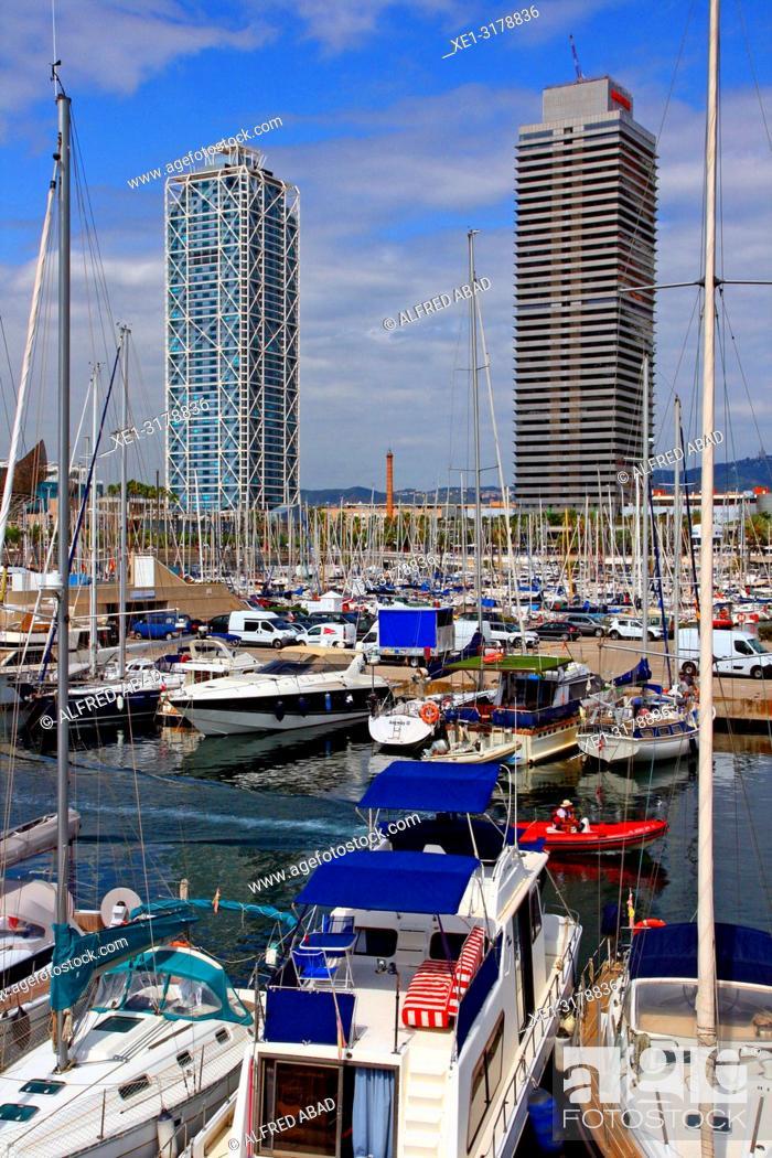 Imagen: marina, hotel Arts and Torre Mapfre, Barcelona, Catalonia, Spain.