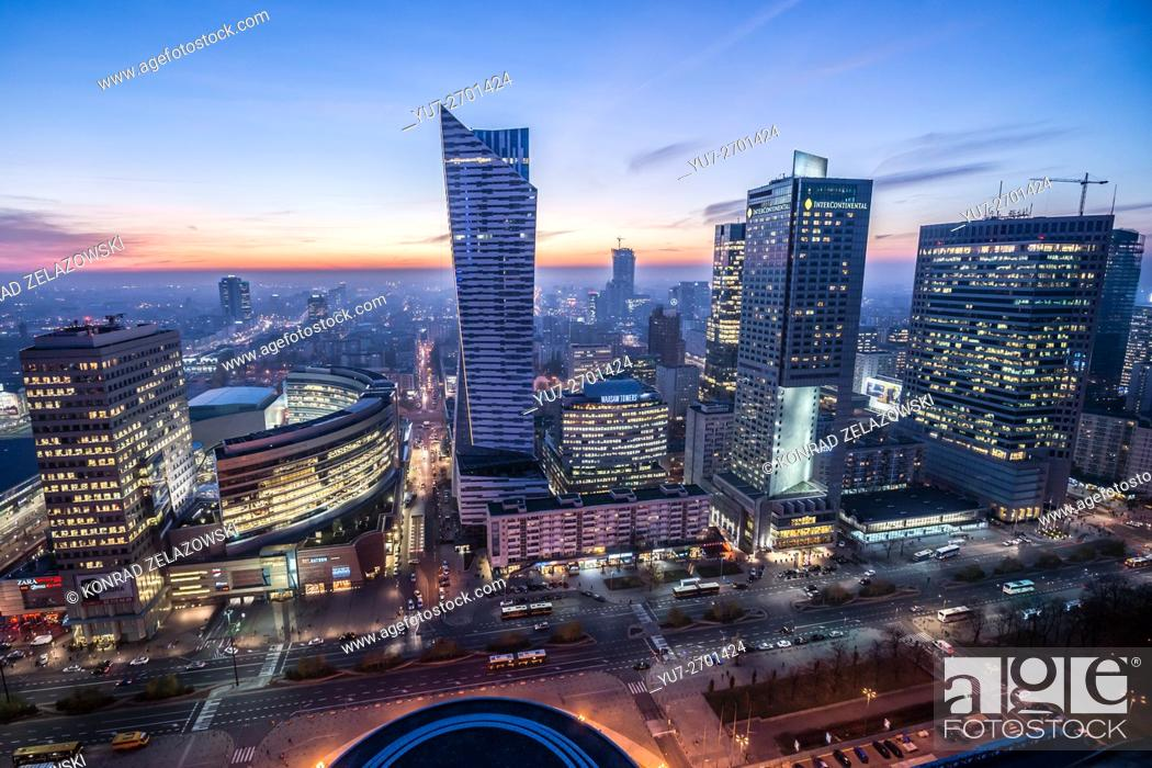 Warsaw, Poland  View with Golden Terraces, Zlota 44