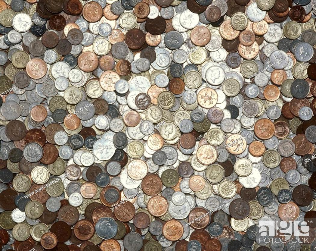 British coins, Stock Photo, Picture And Rights Managed Image