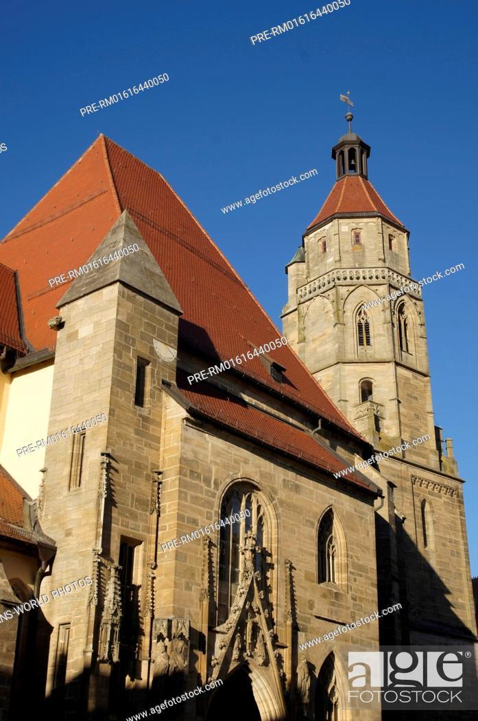 Stock Photo: St.-Andreas-Kirche, Weißenburg in Bayern, Weißenburg-Gunzenhausen district, Middle Franconia, Bavaria, Germany / St.-Andreas-Kirche, Weißenburg in Bayern.