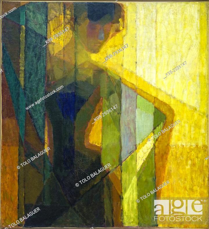 Stock Photo: Frantisek Kupka, plans par couleurs, Centre national d'art et de culture Georges-Pompidou, Paris, France.