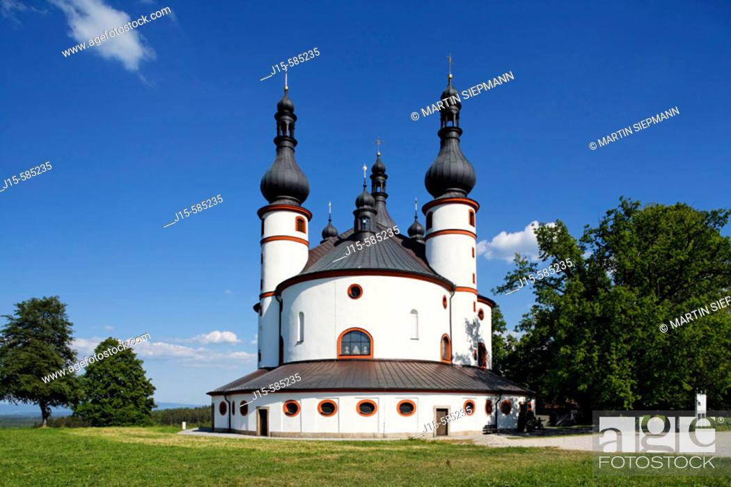 Stock Photo: Kappel, pilgrimage church Waldsassen, Stiftland, Upper Palatinate. Bavaria Germany.