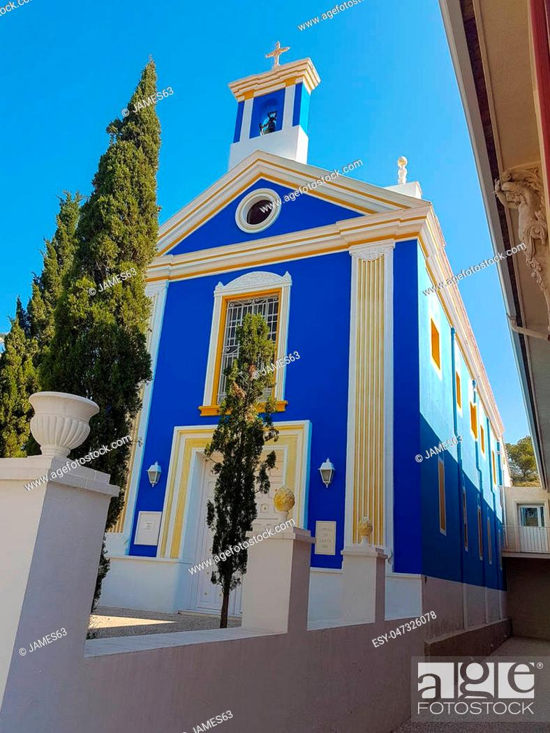 Stock Photo: Church of the town of Fortuna in Murcia Spain.