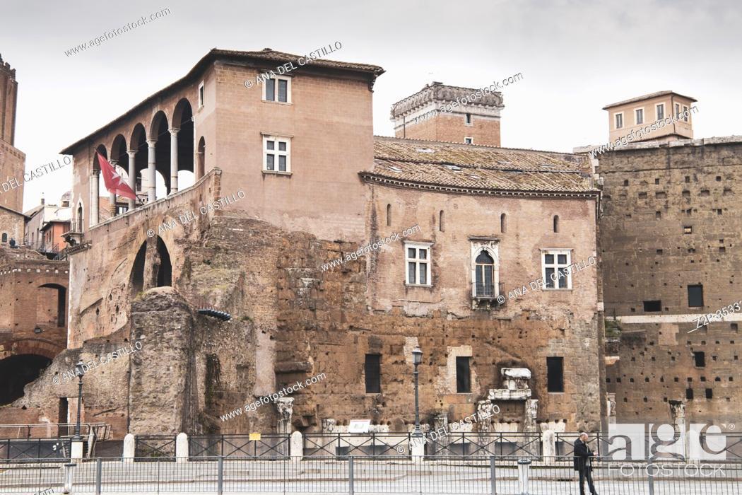 Stock Photo: Trajan's Forum (market), Rome, Italy on February 8, 2017.
