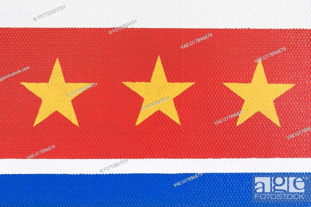 Stock Photo: Flag, Emblem, Fabric, Texture, Textile, Silk.