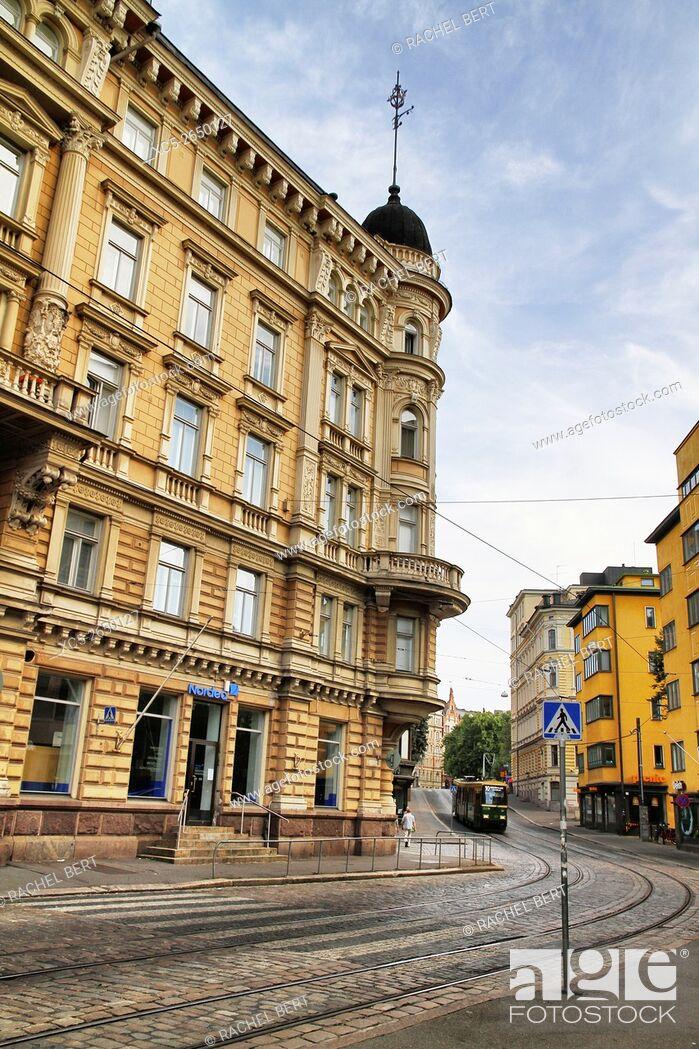 Stock Photo: Skillnadsgatan Street, Helsinki, Finland, Europe.