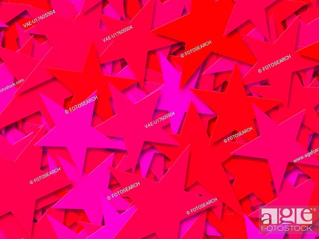 Stock Photo: Red Stars.