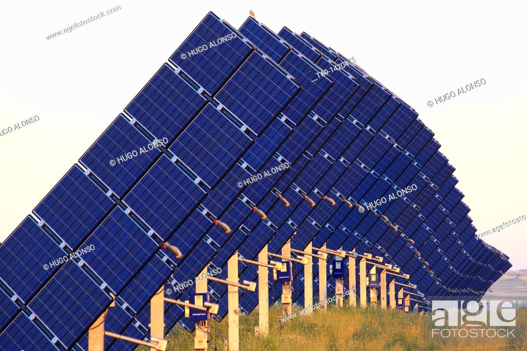 Stock Photo: Sun power plant.