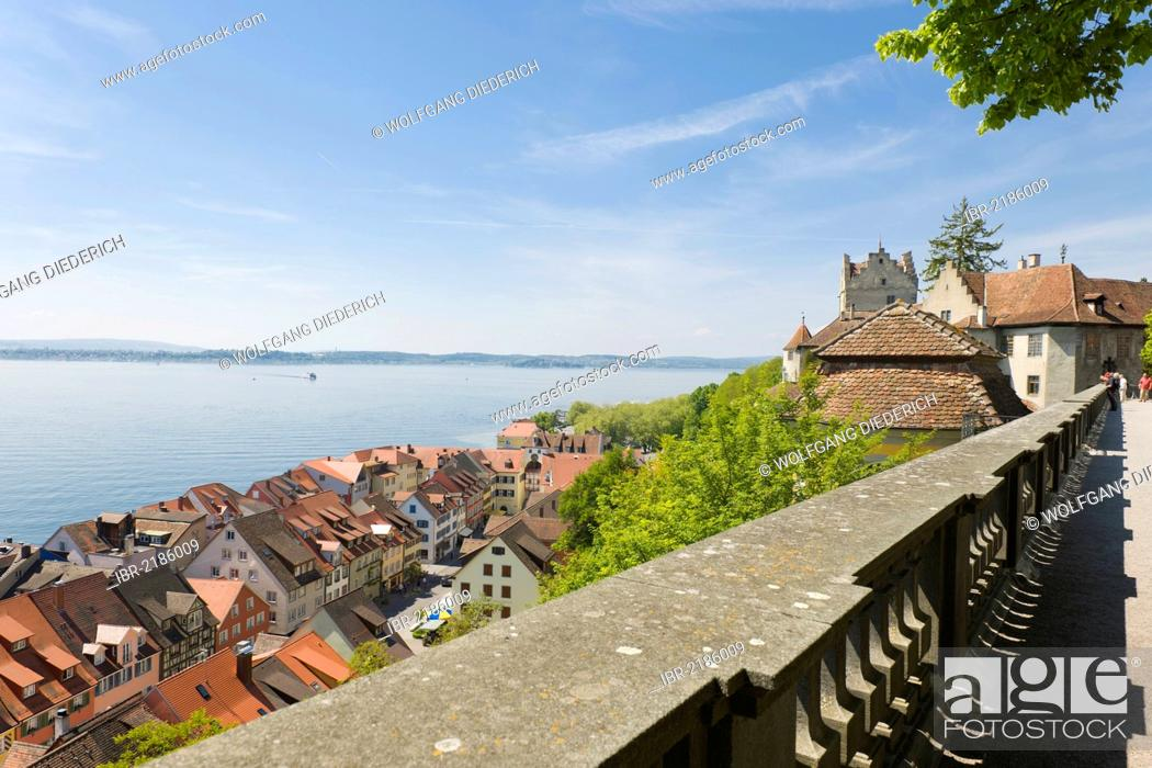 Stock Photo: Castle, Altes Schloss Castle, Unterstadt district, Meersburg, Lake Constance, Baden-Wuerttemberg, southern Germany, Germany, Europe, PublicGround.