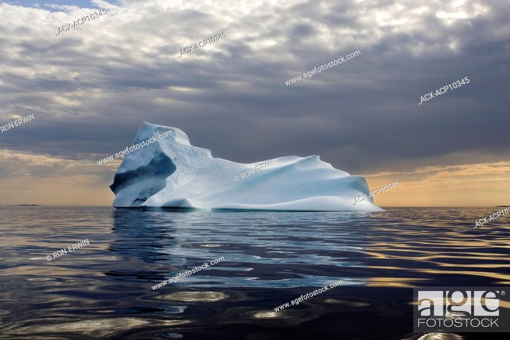 Stock Photo: Iceberg in the Labrador Sea off the coast of Cartwright, Labrador, Newfoundland and Labrador, Canada.