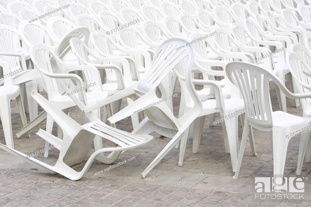 Stock Photo: Chair, Concrete, Day, Empty, Floor.