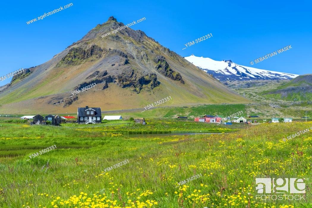 Stock Photo: Arnarstapi, Snaefellsnes Peninsula, Iceland.