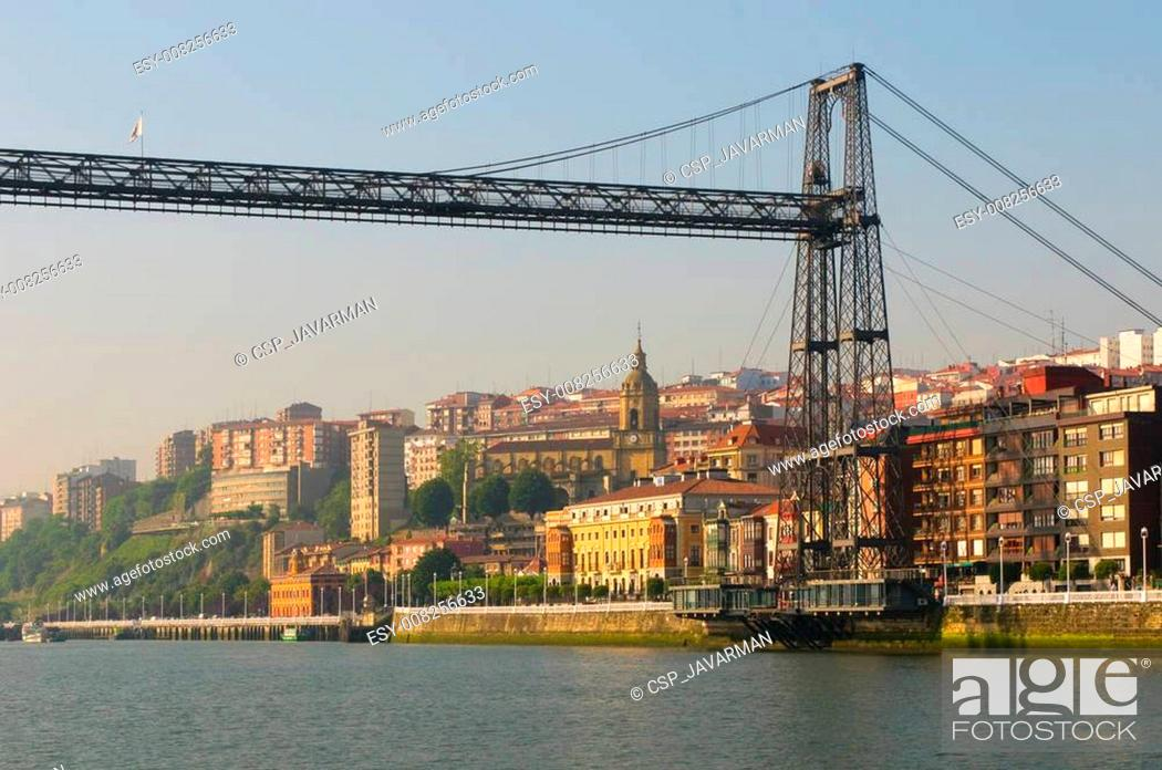 Stock Photo: Puente Colgante or Vizcaya Bridge, Spain.