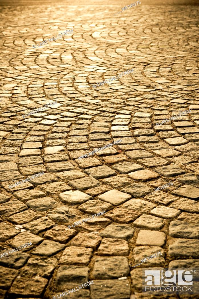 Stock Photo: Old style street with Cobblestones.
