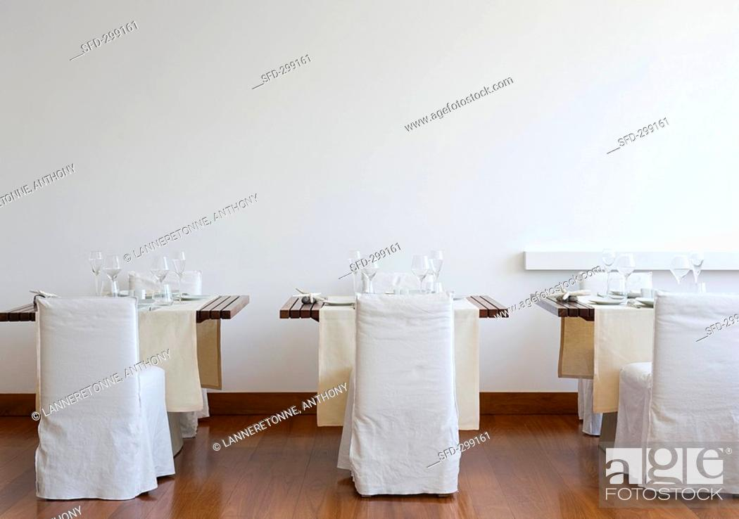 Stock Photo: Laid tables in Hotel Casa Angelina Praiano, Italy.