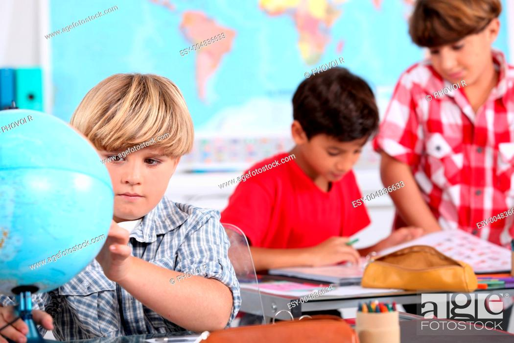 Stock Photo: picture of a classroom.