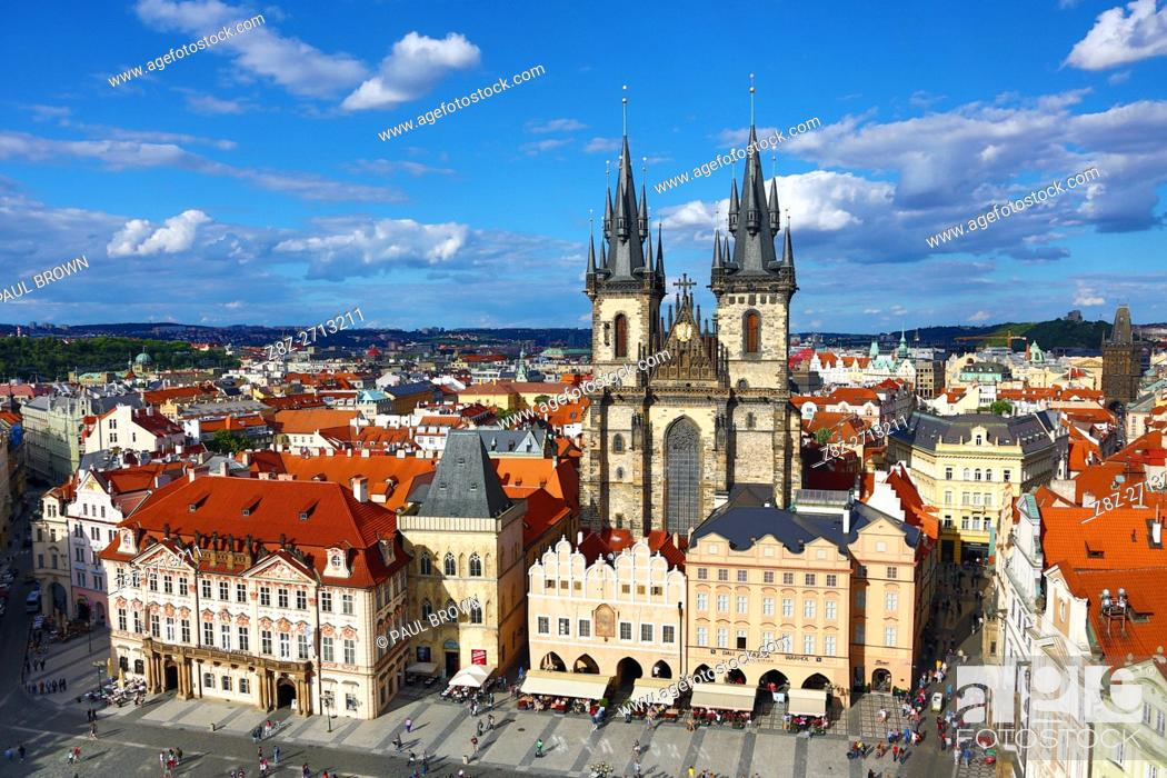 Stock Photo: Church of our Lady before Tyn, Old Town Square, Prague, Czech Republic.