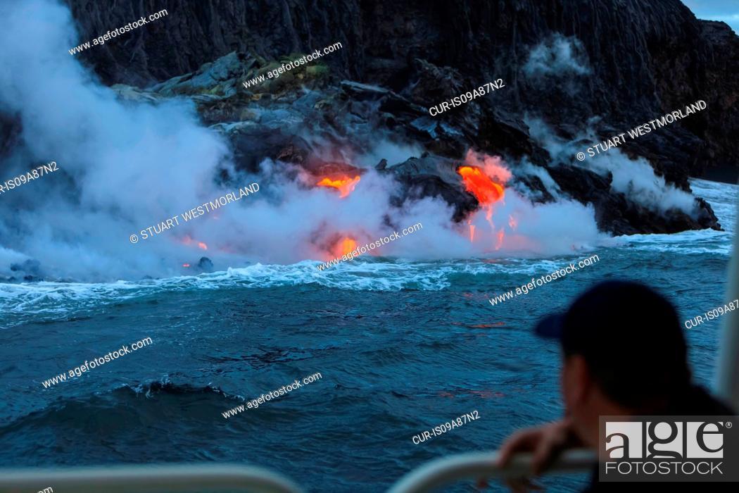 Stock Photo: Kilauea Lava Flow, Kalapana, Big, Island, Hawaii, USA.