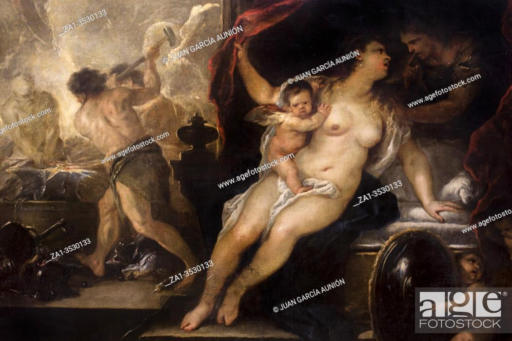 Imagen: Dublin, Ireland - Feb 20th, 2020: Venus, Mars and the Forge of Vulcan, painted by Luca Giordano, 1660. National Gallery of Ireland.