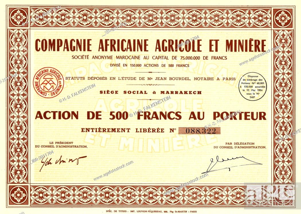 Historic Stock Certificate Colonial Share Certificate Issued In