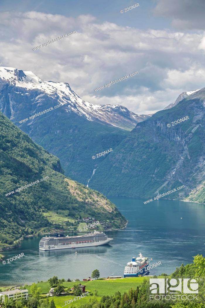 Stock Photo: Geirangerfjord.