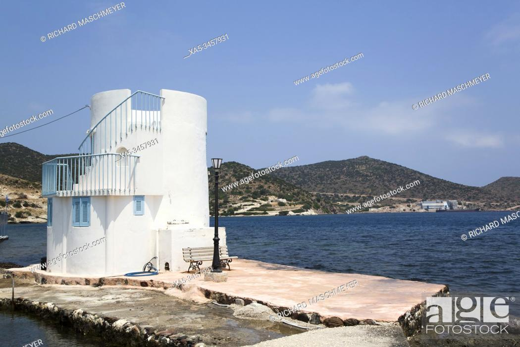 Stock Photo: Embourios Village, Milos Island, Cyclades Group, Greece.
