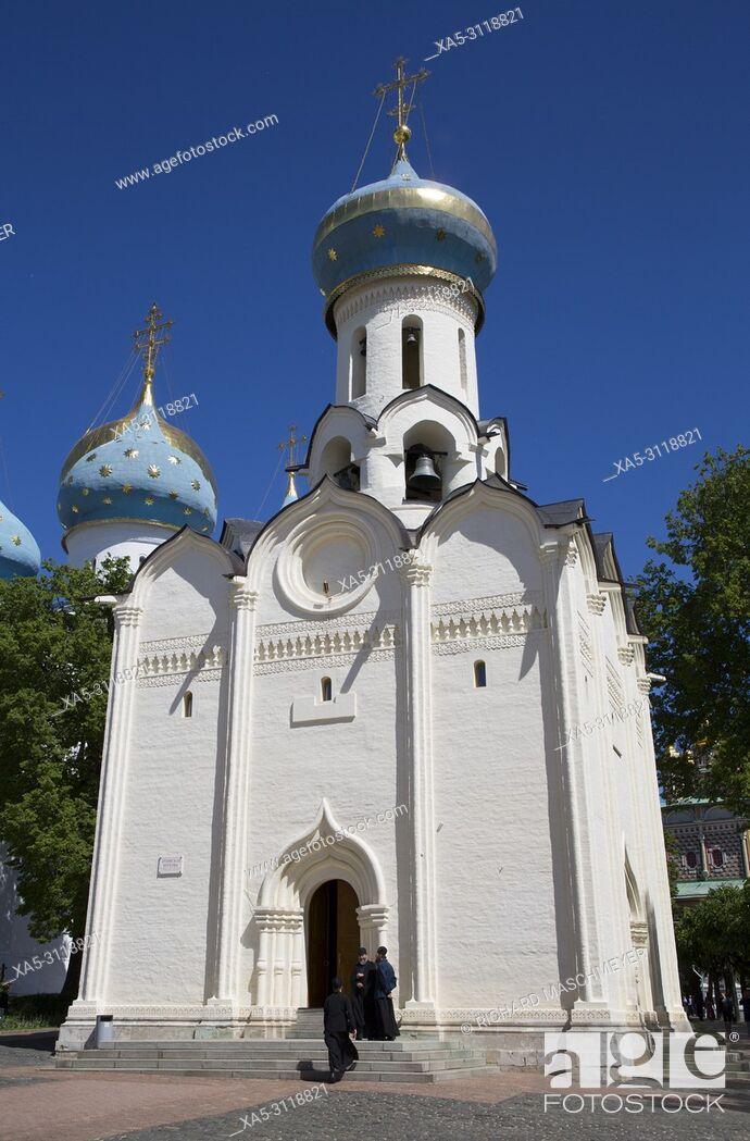 Stock Photo: Holy Spirit Church, The Holy Trinity Saint Serguis Lavra, UNESCO World Heritage Site, Sergiev Posad, Golden Ring, Russia.