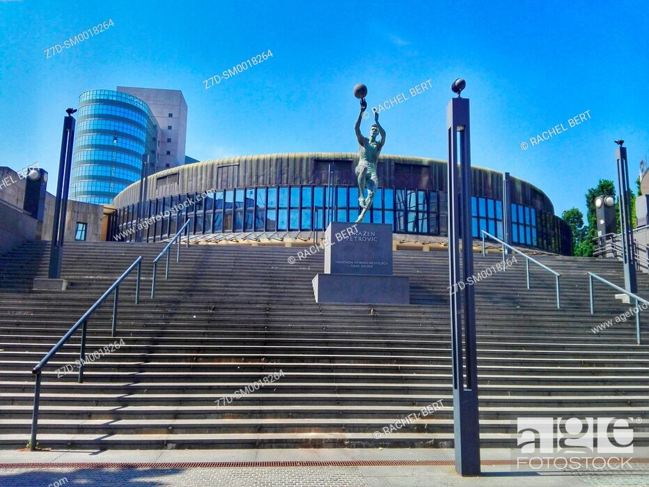 Stock Photo: Drazen Petrovic Basketball Hall, Zagreb, Croatia.