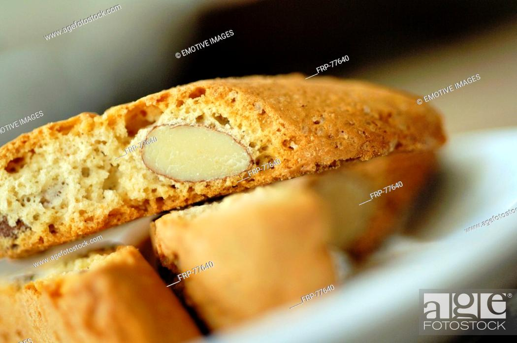 Stock Photo: Almond cake.