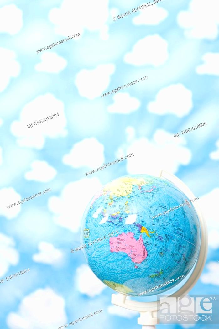 Stock Photo: wallpaper and globe.