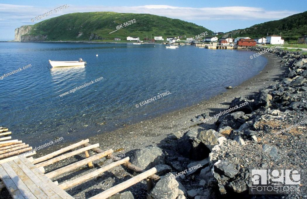 Stock Photo: Fishing harbour of Quirpon, Newfoundland.