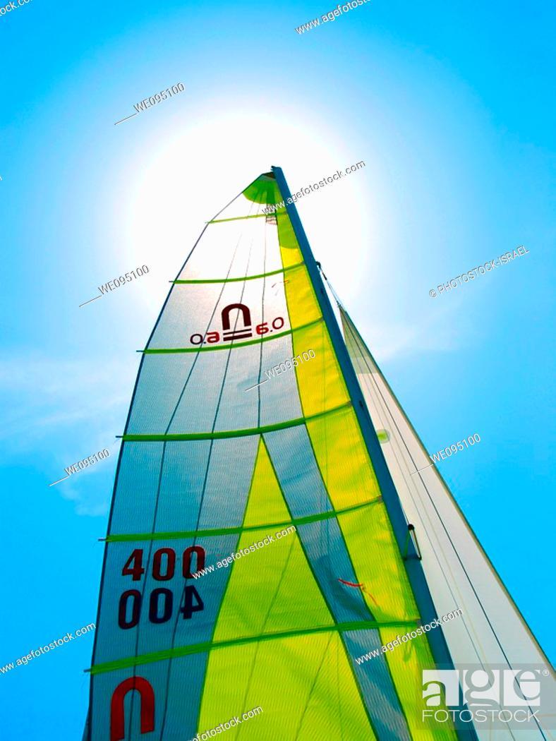 Stock Photo: Sail boat.