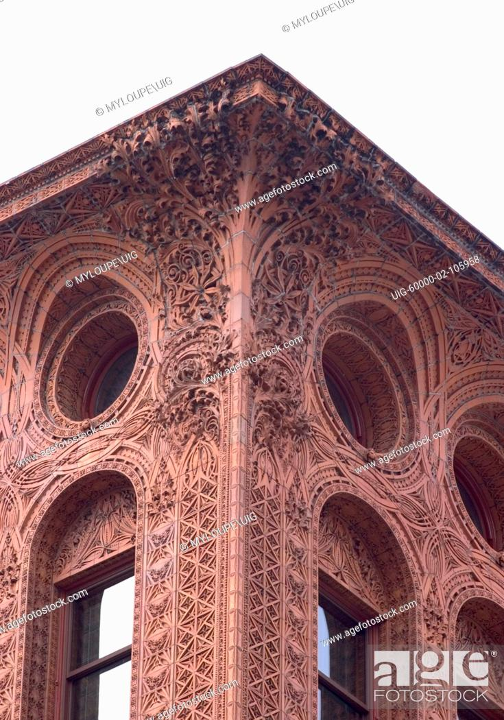 Stock Photo: The Guaranty / Prudential building, Buffalo, New York, USA. One of earliest skyscapers, designed by architect Louis Sullivan, completed 1896.