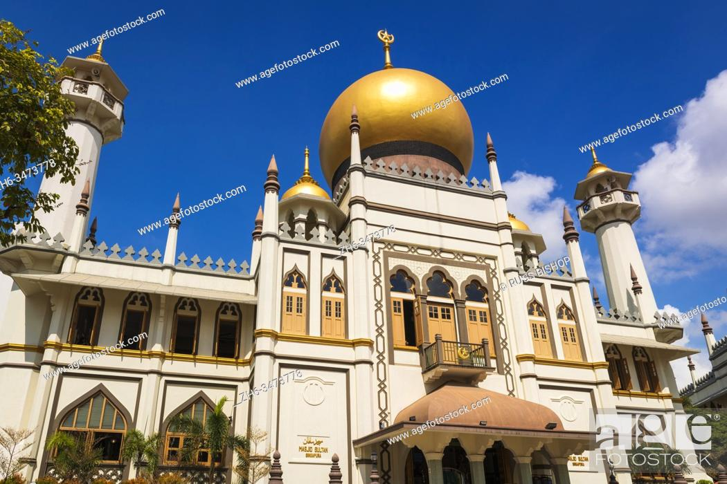 Stock Photo: Masjid Sultan mosque on Arab Street in the Malay Heritage District, Singapore, Republic of Singapore.