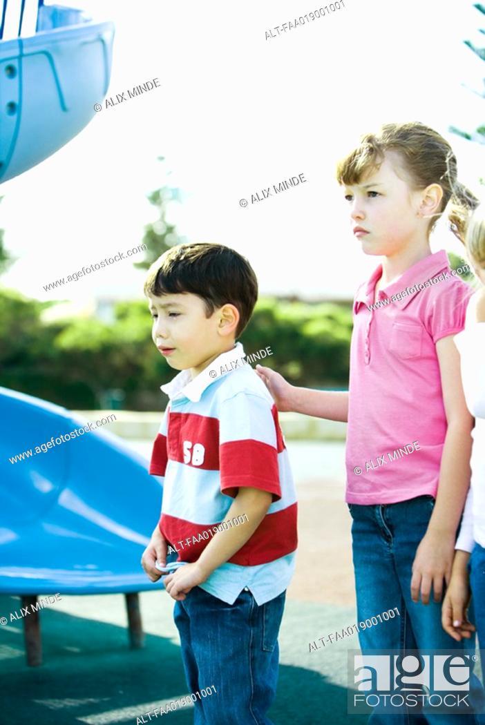 Stock Photo: Children on playground.