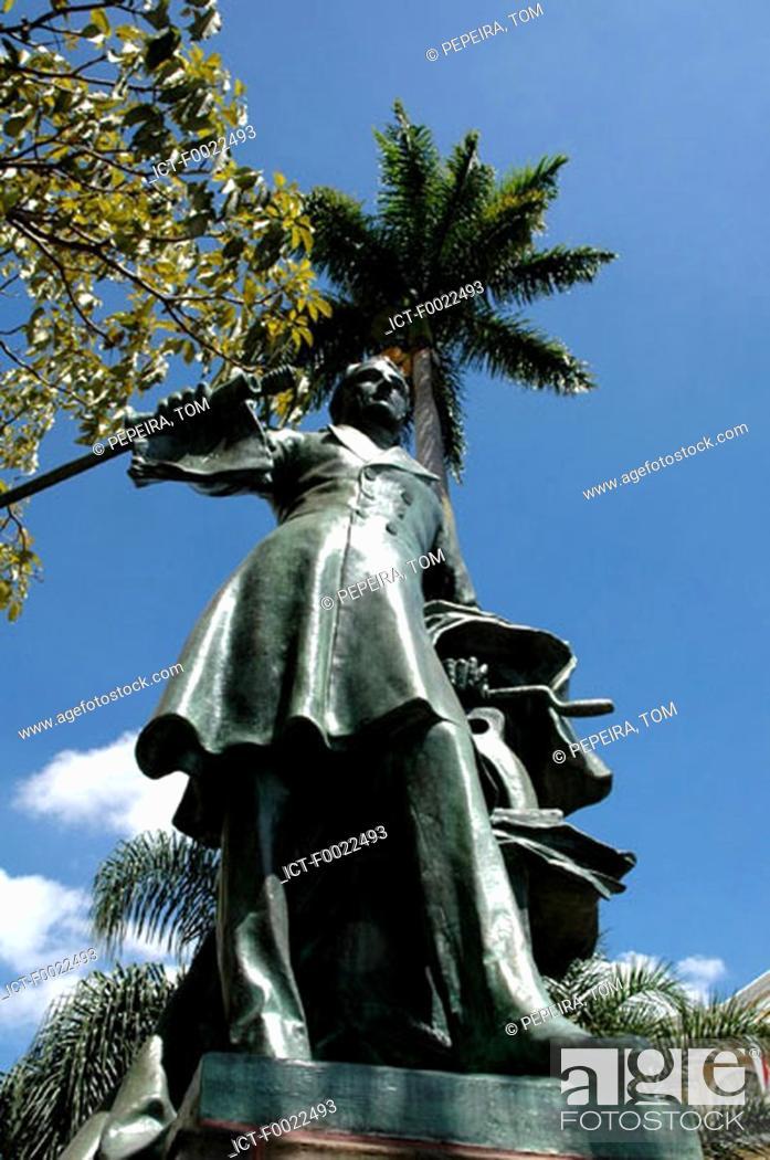 Stock Photo: Costa Rica, San JosÚ, downtown, statue of Juan Mora Fernandez.