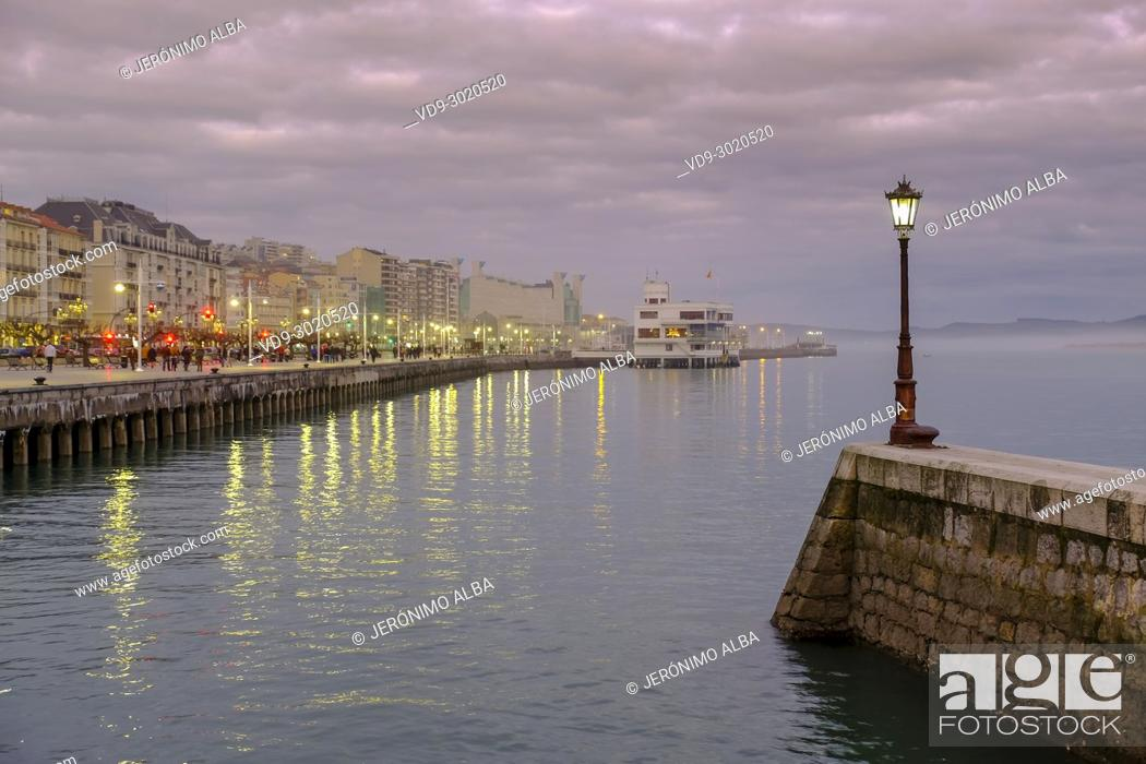 Stock Photo: Bahia de Santander. Cantabrian Sea, Cantabria, Spain, Europe.